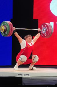 Russian-Weightlifters-Train Kashirina